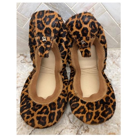 Yosi Samra leopard calf hair ballet flats size 7